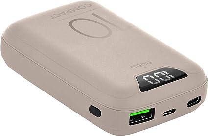 Batería Externa compacta de 10000 mAh con tecnología de Carga ...
