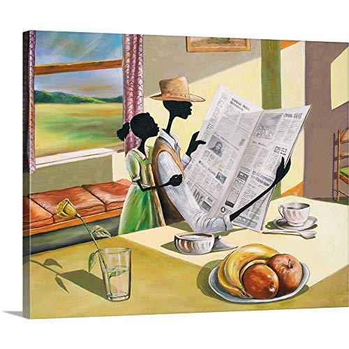 Sunday Morning Canvas Wall Art Print, 30 x24 x1.25