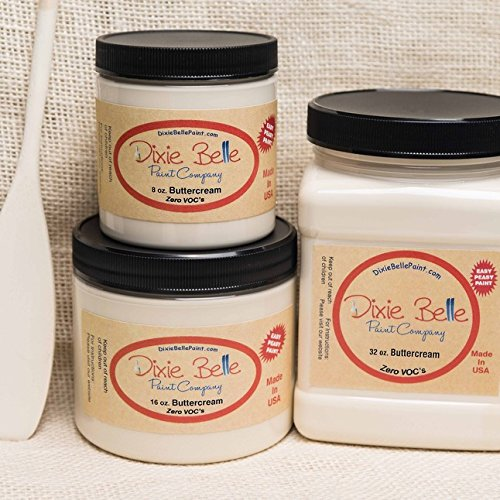 Dixie Belle Paint Company Chalk Finish Furniture Paint (Buttercream) (32oz) (Dixie Cream)