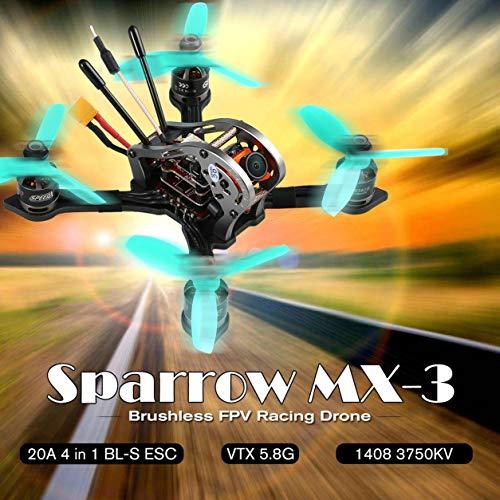 GEPRC Sparrow MX-3マイクロ5.8G 600TVLカメラブラシレスFPVレーシングドローンBNF(カラー:ブラック)