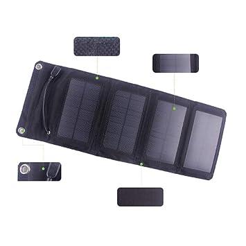 QETU El Cargador Plegable Solar al Aire Libre Cargador Solar ...