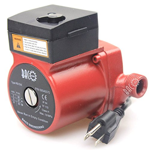 BACOENG 3/4'' 110V/115V Hot Water Circulation Pump /Circulator Pump For Solar Heater System With US (Hot Water Pump)