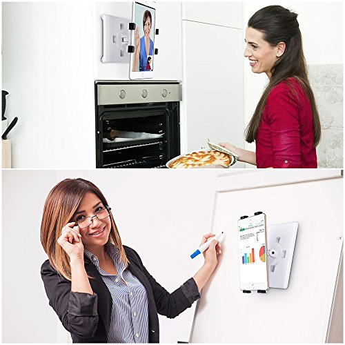 AboveTEK Universal Magnetic Tablet Mount, Swivel iPad Stand, 360° Rotating Clamp Holder Fits 6-13'' Display Tablets, Strong Attach to Metal Surface on Cabinet Whiteboard Kitchen Fridge Steel Car Door by AboveTEK (Image #5)