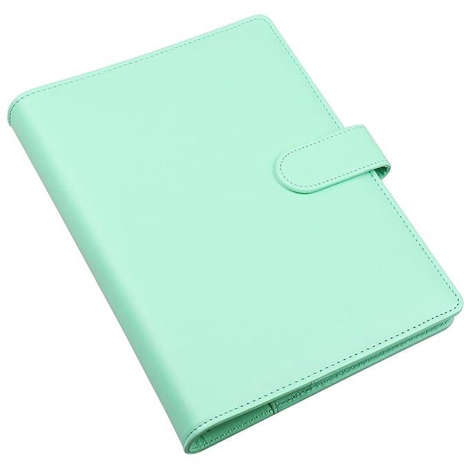 Amazon.com: Funda de piel sintética para cuaderno A5 ...