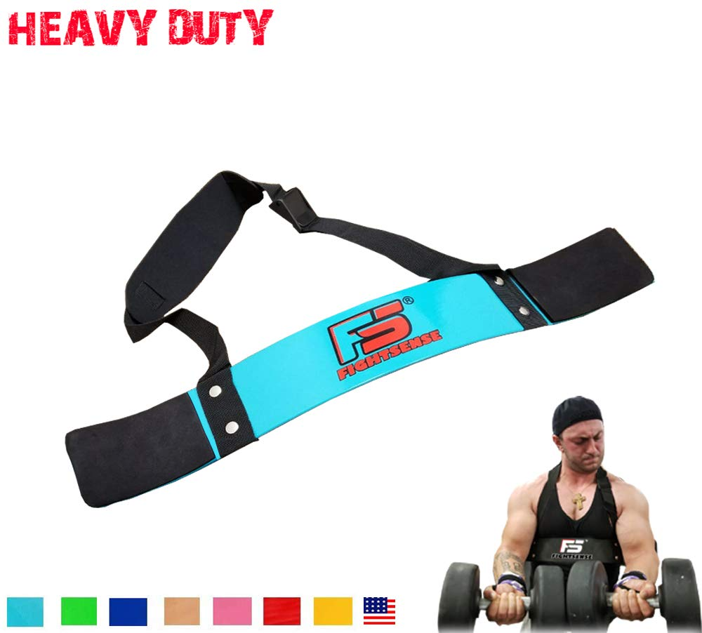 FIGHTSENSE Arm Blaster Biceps Curl Triceps Muscle Isolator Bomber Fitness Gym Workout Training Support (Cyan)