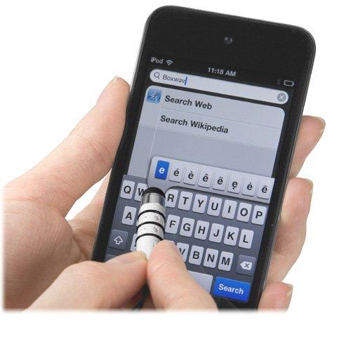 BoxWave Motorola XOOM mini Capacitive Stylus (Sparkle Edition) - Small Portable Motorola XOOM Stylus w/ Tether and Rhinestone Detail Design (Jet Black) at Electronic-Readers.com