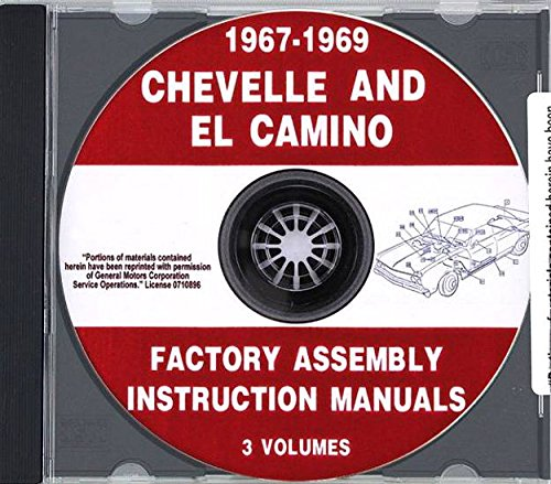 - 1967 1968 1969 Chevelle Factory Assembly Manual CD El Camino, Malibu, SS - Chevy Chevrolet