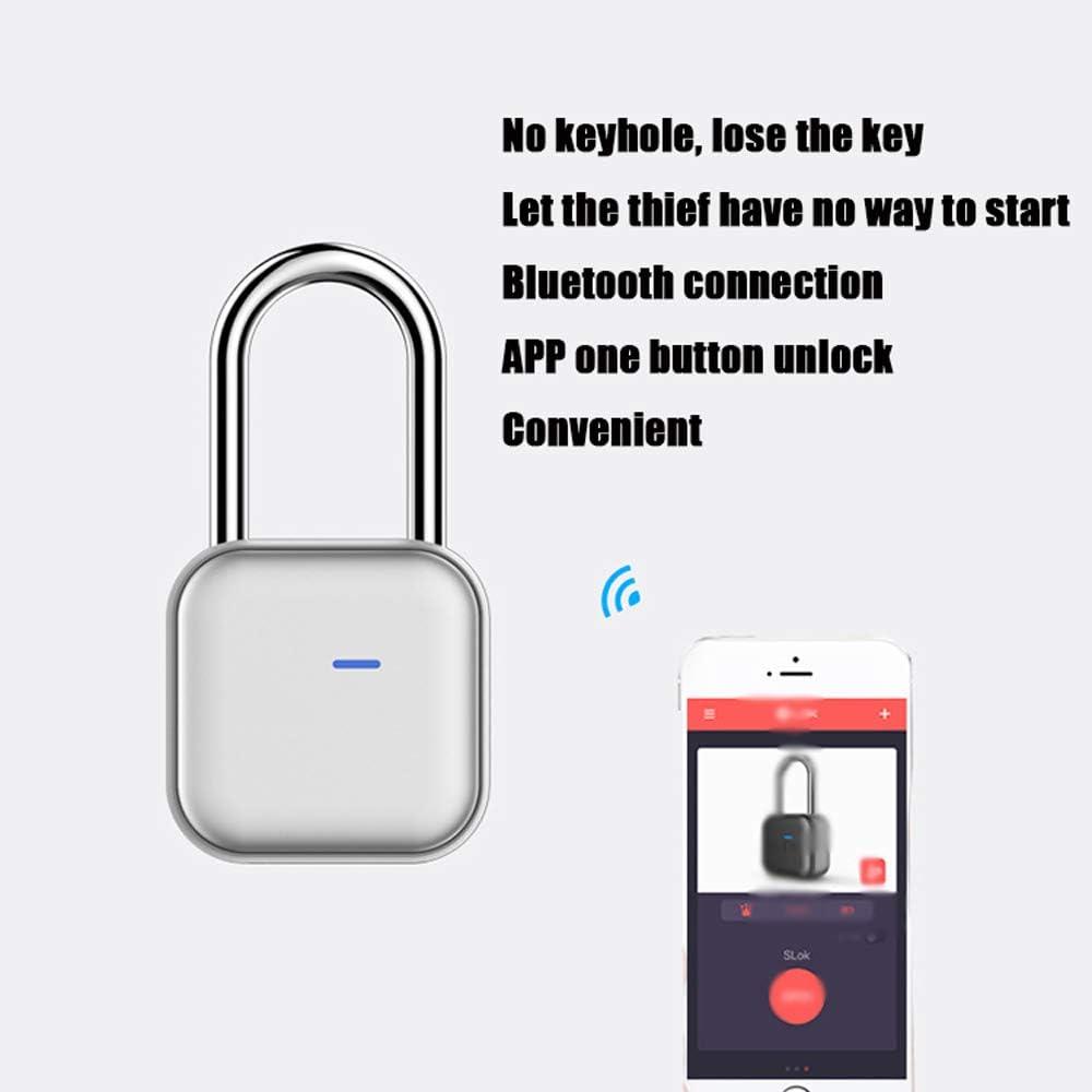 Smart Padlock IP66 Waterproof Anti-Theft Padlock with APP//Bluetooth//Password Unlock for Gym Locker Luggages Shed Locker MUYIER Smart Bluetooth Padlock
