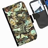 Hairyworm - Camouflage Sony Xperia E1 leather side flip wallet cell phone case, cover