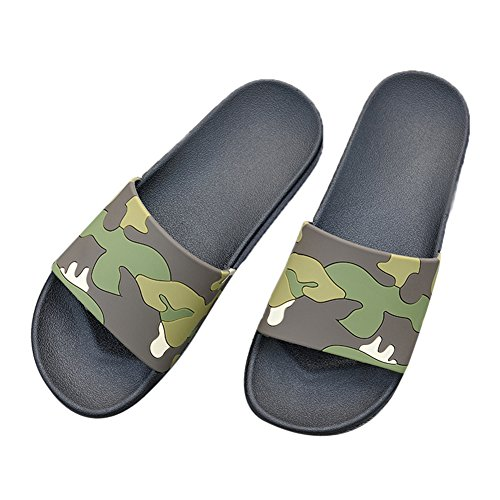TELLW Bathroom Slippers for Male Female Summer Home Indoor Anti-Slip Thick Bottom Cool Slippers Green xVEQkMtOo