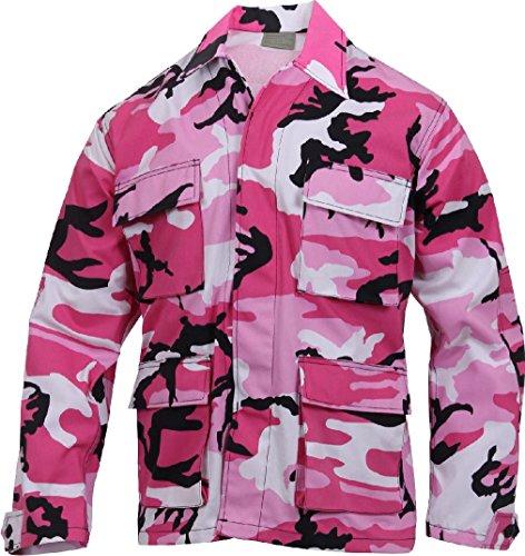 Pink Camo Fatigue Cap - Military BDU Shirt Tactical Uniform Army Coat Camouflage Army Fatigue Jacket