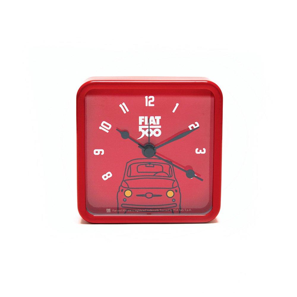 Fiat 500 fior34 Reloj de Mesa Cuadrado, Metal, Rojo, 8 x 8 x ...