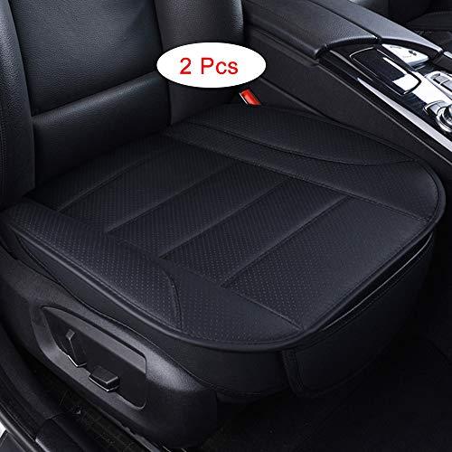 2 Pcs Ultra-Luxury PU Senior Leather Single Seat,Car Seat Protection,Car Seat Cover,Auto Seat Covers,Car Seat Cushion,Seat Covers Cars,For Car seats,seat cover,Most Four-Door Sedan&SUV (Black-2)