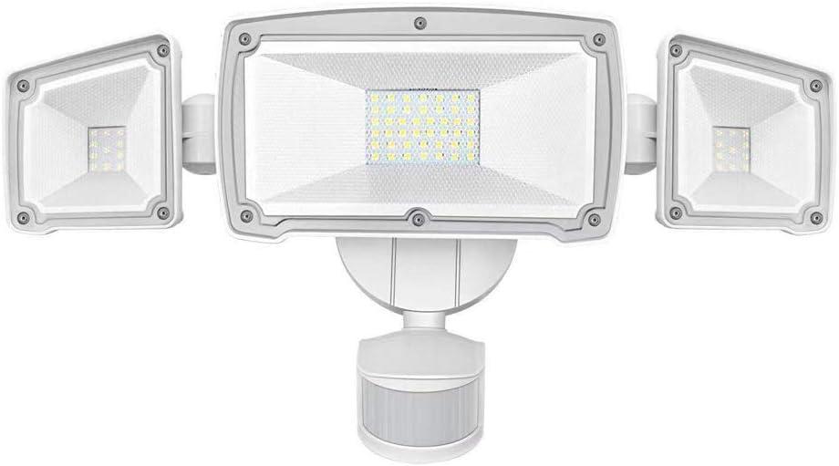 LED Security Lights, AUSPICE 3 Adjustable Heads Super Bright Outdoor Flood Light Motion Sensor Light, ETL- Certified, 3500LM, 62LED, 42W 6000K, IP65 Waterproof for Garage, Patio, Garden, Porch, Yard