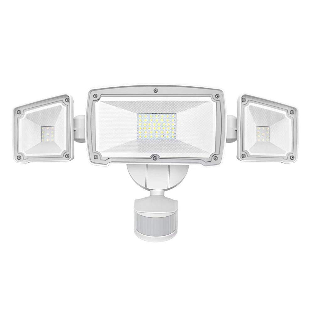 LED Security Lights, AUSPICE 3 Adjustable Heads Super Bright Outdoor Flood Light Motion Sensor Light, ETL- Certified, 3500LM, 62LED, 42W 6000K, IP65 Waterproof for Garage, Patio, Garden, Porch, Yard