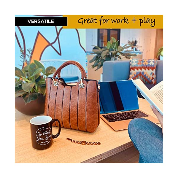 Vegan Leather Purse with Top Handles - Women Handbags and Purses