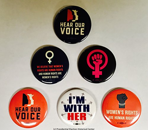 (Womans Rights Hear Our Voice Set of 6 Collectors Buttons (Set 2))