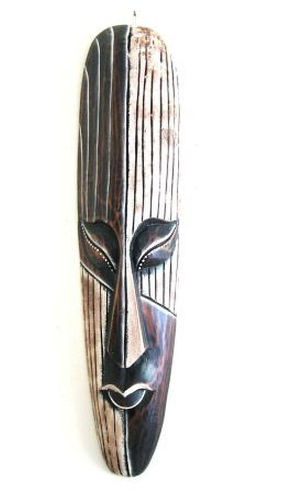 OMA African Mask Wall Hanging Decor Luck and Fortune Statue Mask - LARGE 20'' - Hand Carved BRAND by OMA