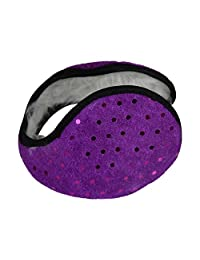 Solid Earmuff with Sequins - Purple