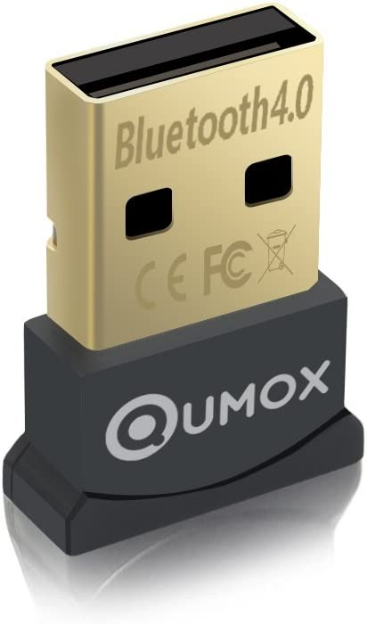 QUMOX Bluetooth 4.0 USB adaptador/Dongle, Bluetooth Transmisor y receptor para Windows 10/8,1/8/7/Vista, Plug and Play compatible con Windows 7 y superior