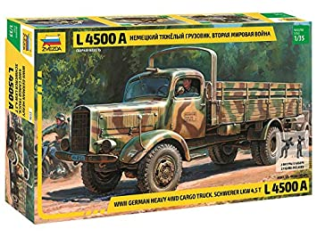Zvezda Heavy German Cargo Truck L 4500 S (Z3596): Amazon.es ...