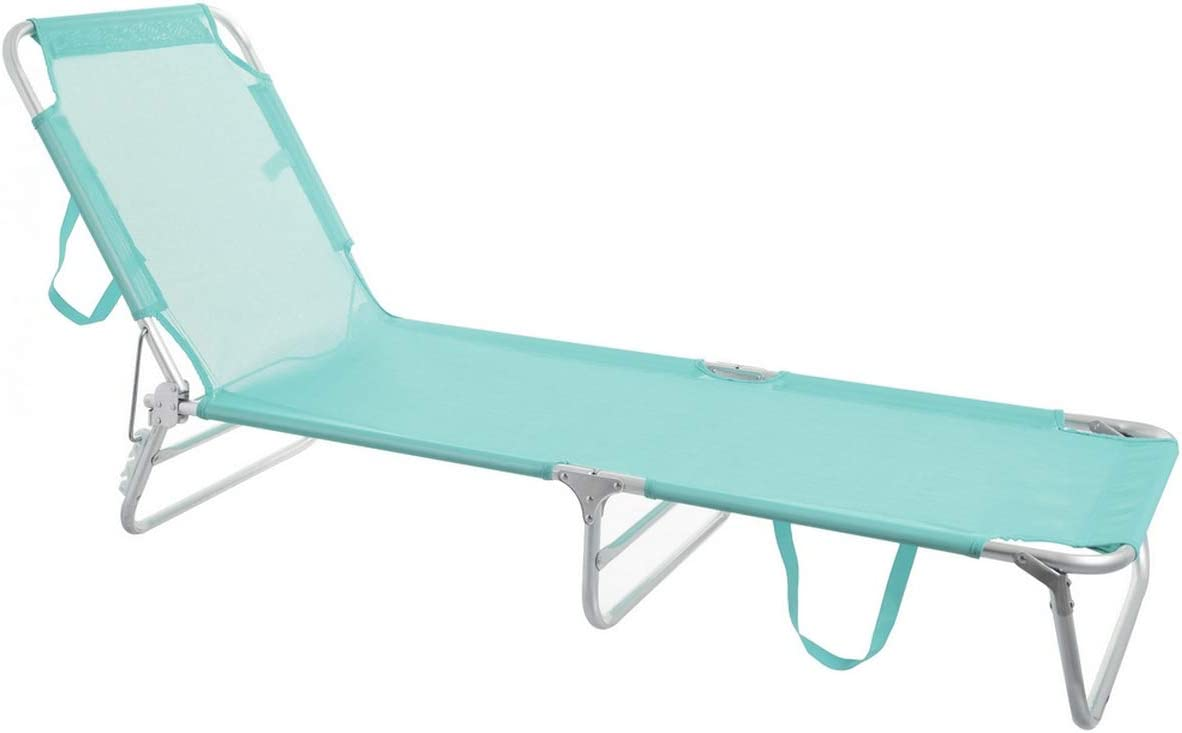 Tumbona Playa Plegable Verde Aluminio de 25x190x58 cm - LOLAhome: Amazon.es: Hogar
