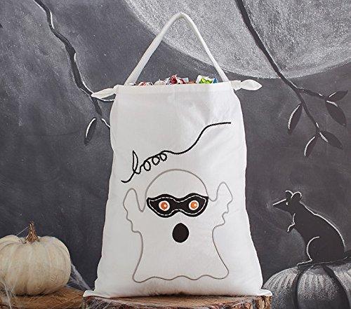 Halloween Kawaii Ghost Pillowcase Treat Bag Reusable Shopping Gift Bag MONSTERZ -