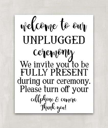 Amazon.com: Unplugged Wedding Sign, Unplugged Ceremony