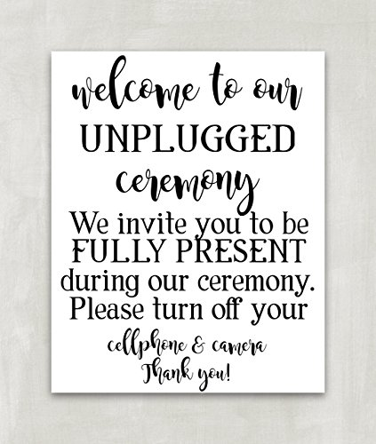Unplugged Wedding Sign, Unplugged Ceremony Sign, Reception Sign,