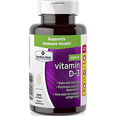 Member's Mark Vitamin D-3 5000 IU, 400 Softgels Dietary Supplement