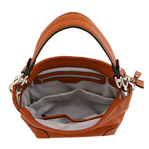 Hobo Bag Snap Shoulder Peach with White Hardware Big Hook xrCqxw