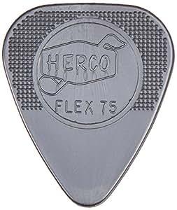 Herco HE211P Flex 75 Nylon Flat Picks, Silver, Heavy, 12/Player's Pack