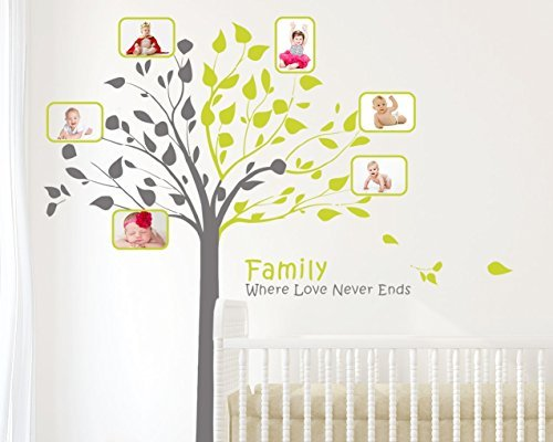 Tree with Quotes & Photo Frame (Generations Scroll Green)