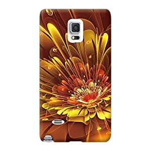 Samsung Galaxy Note 4 YlL822joke Support Personal Customs Fashion Bubble Abstract Flowers Skin Protective Cell-phone Hard Cover -casesbest88