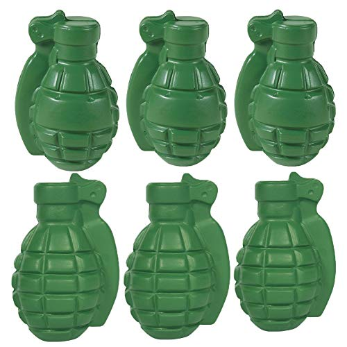 - Stress Relief Squeezable Foam Green Grenade Package of Six (6)