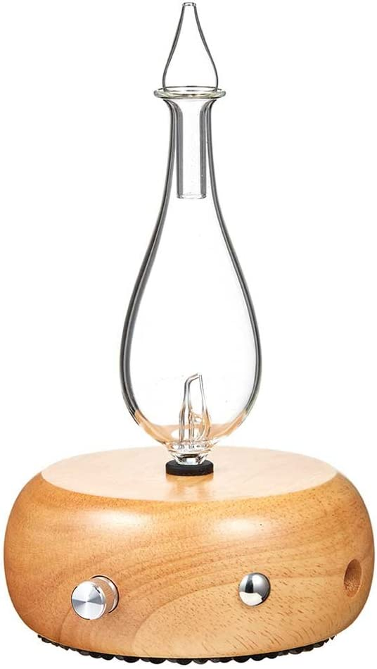 Diffuser by Organic Aromas - Light Colored Wood Base and Glass Reservoir With Touch Sensor Light Switch