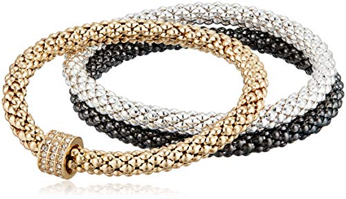 NINE WEST Boxed Tri-Tone Set of 3 Stretch Bracelet