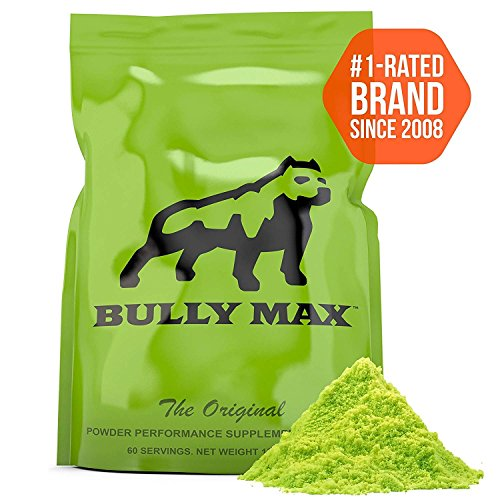 2 Bags of Bully Max Muscle Building Powder for Dogs. 5X More Effective Than Other Brands. Used by 393,932 Dog Owners. for All Breeds Including Pit Bulls, Bulldogs, Bully Breeds, and More.