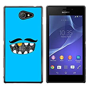 MOBMART Carcasa Funda Case Cover Armor Shell PARA Sony Xperia M2 - The Mustache And His Dentition