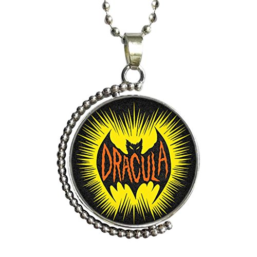 GiftJewelryShop Scary Halloween bat Clipart Glass Cabochon Rotatable
