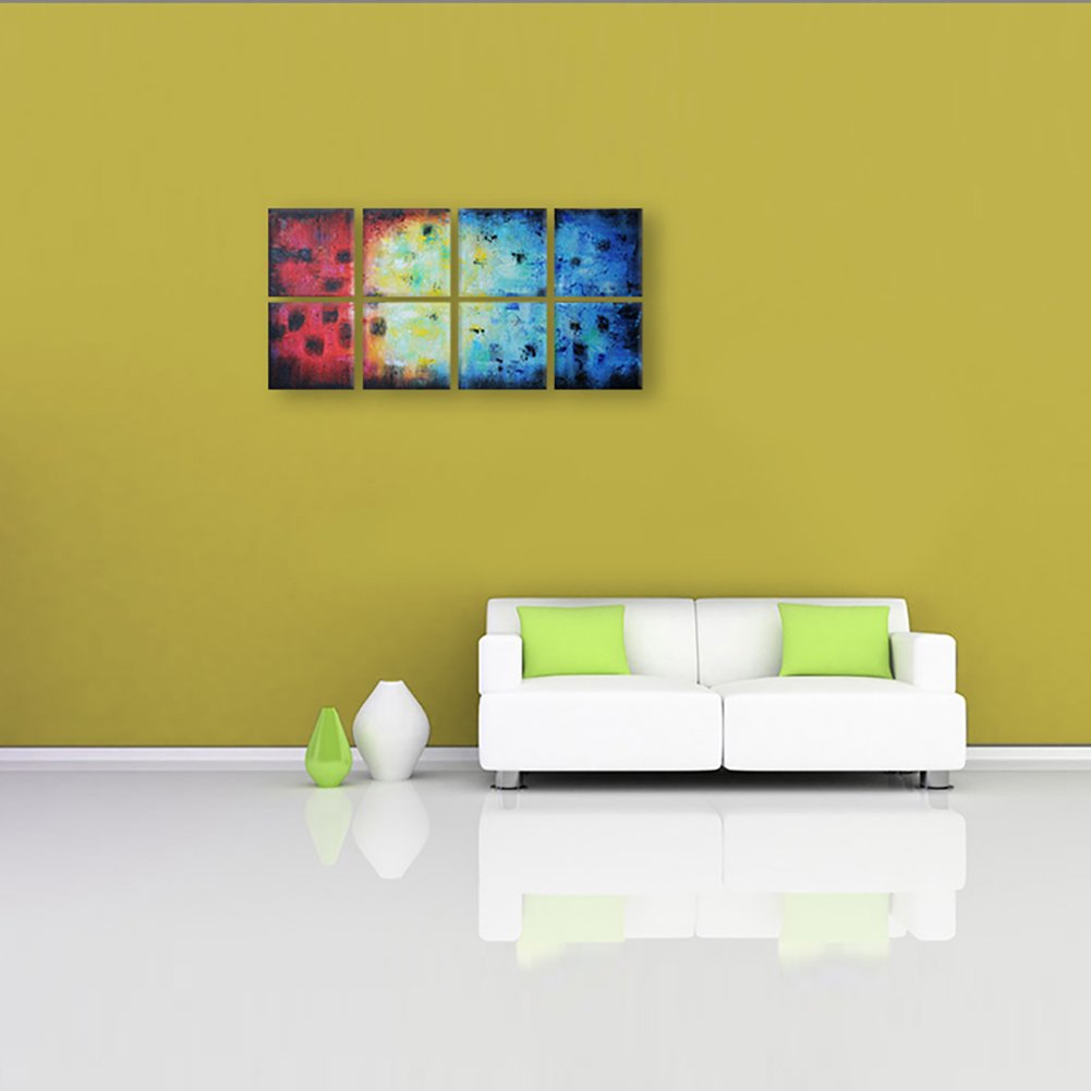 Amazon.com: IARTS Abstract Wall Art 100% Hand Painted Acrylic ...