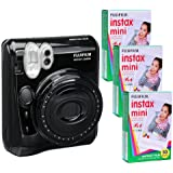 Fujifilm Instax Mini 50 Kit and 3 Fujifilm Instax Mini Film with 10 Exposures FU64-INM50KK30 (Black)