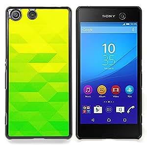 """Qstar Arte & diseño plástico duro Fundas Cover Cubre Hard Case Cover para Sony Xperia M5 E5603 E5606 E5653 (Amarillo verde lima"""")"""
