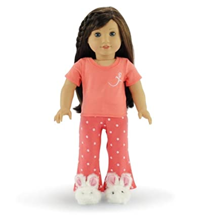 2851c74e98 Image Unavailable. Image not available for. Color  18 Inch Doll Clothes  Coral ...