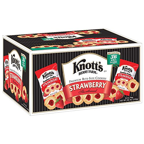 Knott's Berry Farm Strawberry Shortbread Cookies - 36 ct. (pack of 2) (Shortbread Strawberry)