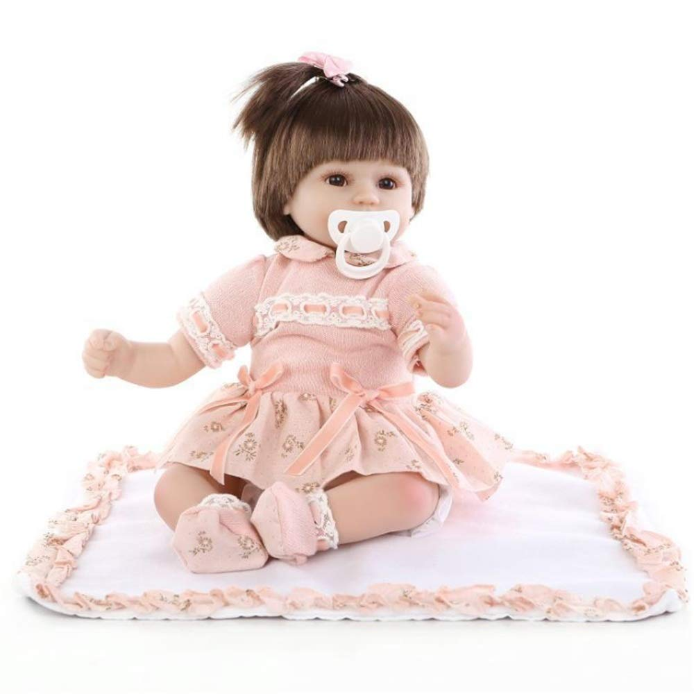 Kids Beach Toys Pink Dress Nursery Baby Alive Doll Realistic Pretend Role Play Kids Toys Cute Newborn Baby Girl Doll Lifelike With Clothes Hair Accessories Feeding Toys Baby Toddlers Infants Girls Boy