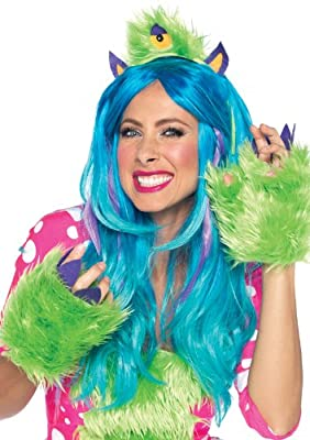 Leg Avenue Costumes 2Pc.One Eye Olive Kit Furry Monster Headband and Paws