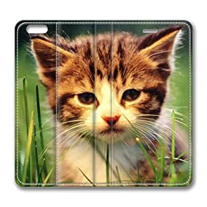 Cute Cat Pet Leather Cover for iPhone 6 Plus by Cases & Mousepads