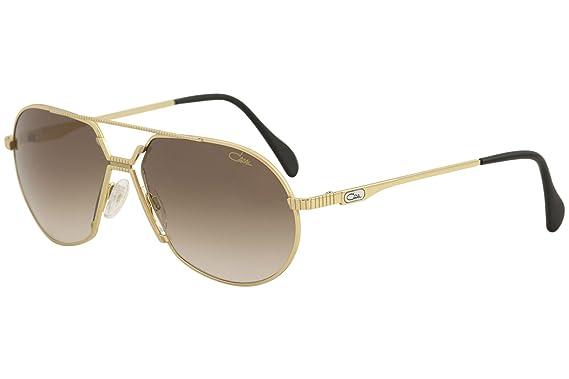 9efa85702c2a Amazon.com  Cazal Legends 968 Sunglasses 003SG Gold Brown Gradient ...