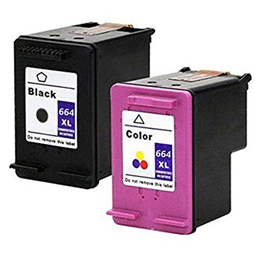 LOVEINK Combo Pack Remanufactured Ink Cartridge for HP 664XL 2 Pack (1 Black/ 1 - Tri Ink Colour 17